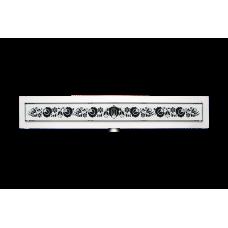 Kalocsai fehér design üveg fedőrács
