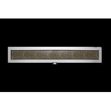 Leopárd bézs design üveg fedőrács